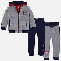 Спортивный костюм тройка  для мальчика Mayoral серый (04812-079)  98 см