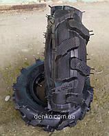 Резина к мотоблоку с камерой 4.00-8 с насечками 4 PR 168 кг