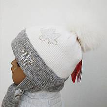 Дитяча шапка для дівчинки TRESTELLE Італія T16 120S молочна