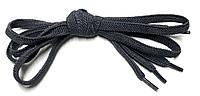 Шнурки плоские Темно серые резиновые 100см, фото 1