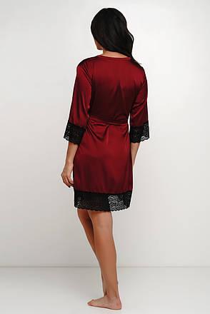 Роскошный  шелковый халат с кружевом Orl, фото 2