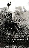 Постер Индеец курит трубку, 40,6х50,8 см