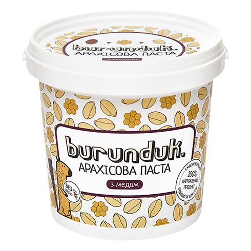 Арахісова паста з медом Burunduk 1кг Украина