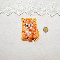 Термонашивка Аппликация для Одежды и Декора Рыженький Котик 7*5 см