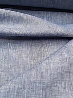 """Льняная сорочечная ткань """"Джинсовая"""", фото 1"""