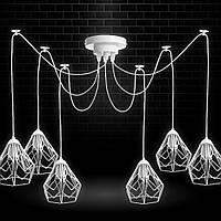 Люстра паук на шесть плафонов NL 538-6 W  MSK Electric