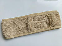 Повязка махровая бежевая на две липучки 8 см.