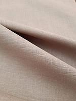 Льняная легкая ткань серо - бежевого цвета