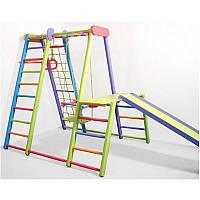 Игровой раскладной спортивный уголок детям Слоник (цветной), фото 1