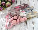 Резинки для волос Зайчики из шерстяных помпонов 12 шт/уп., фото 2