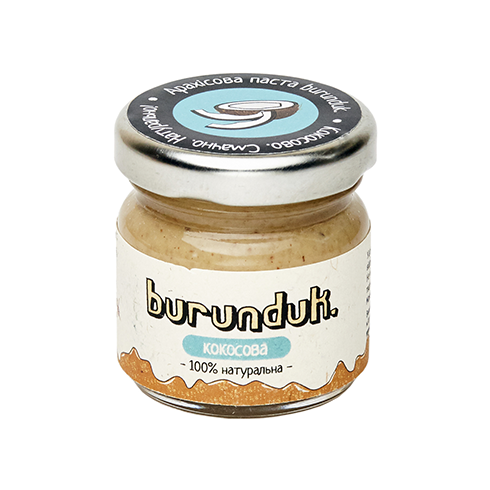 Арахісова паста з кокосом Burunduk 40 грам Україна