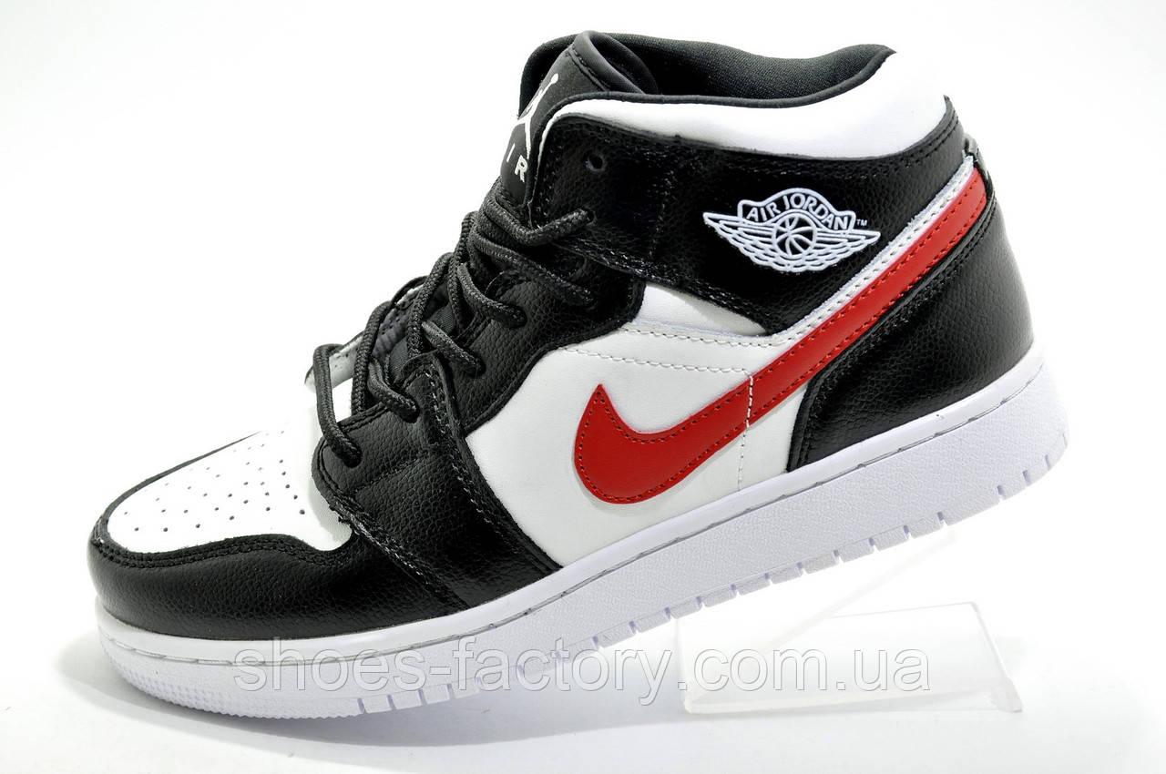 Кроссовки унисекс в стиле Nike Air Jordan 1 High Retro, White\Black