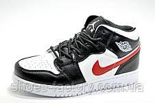 Кроссовки унисекс в стиле Nike Air Jordan 1 High Retro, White\Black, фото 2