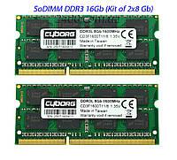 SoDIMM DDR3L 16Gb оперативна пам'ять для ноутбука 1600MHz 1.35 v 16384MB (CD3F1600T11/16) PC3L-12800, фото 1