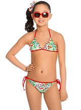 Детский купальник для девочки Arina Италия GM131705 Белый
