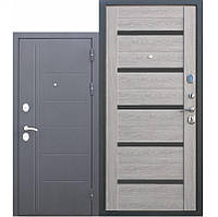 Входная дверь Троя 115 мм 860х2050, Серебро/Дымчатый дуб Царга