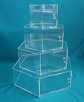Кристально прозрачная колона для декорации тортов №4