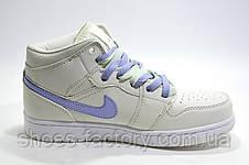 Женские Кроссовки в стиле Nike Air Jordan 1 High Retro, beige color, фото 3