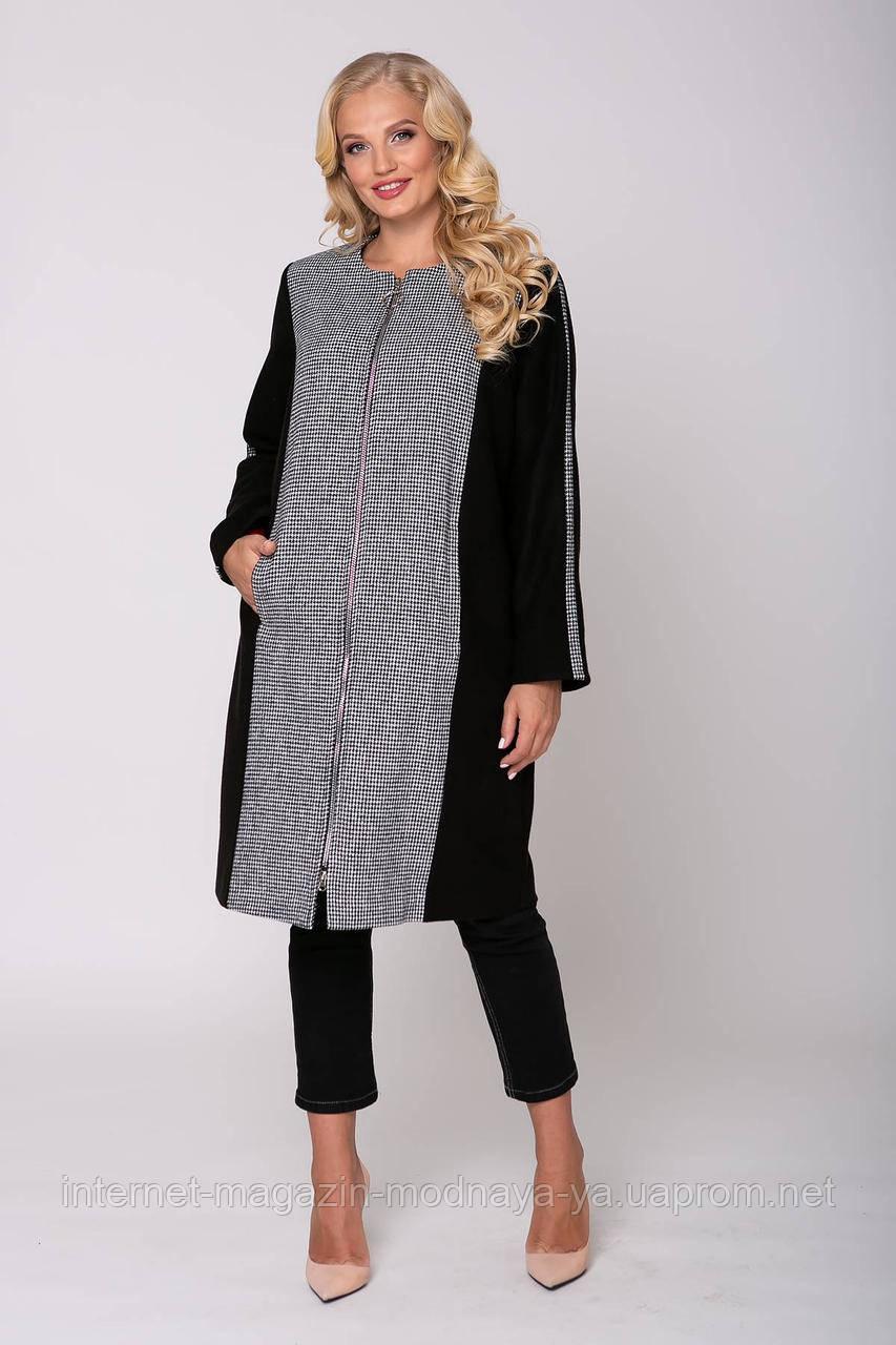"Кардиган-пальто женское ""Бет""р. 54-60 серый"