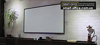Полимерное железо с маркерным белым матовым покрытием (под проектор) на клеевой основе шириной 1,2м.