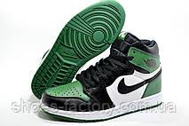 Мужские Кроссовки в стиле Nike Air Jordan 1 High Retro, Green, фото 3