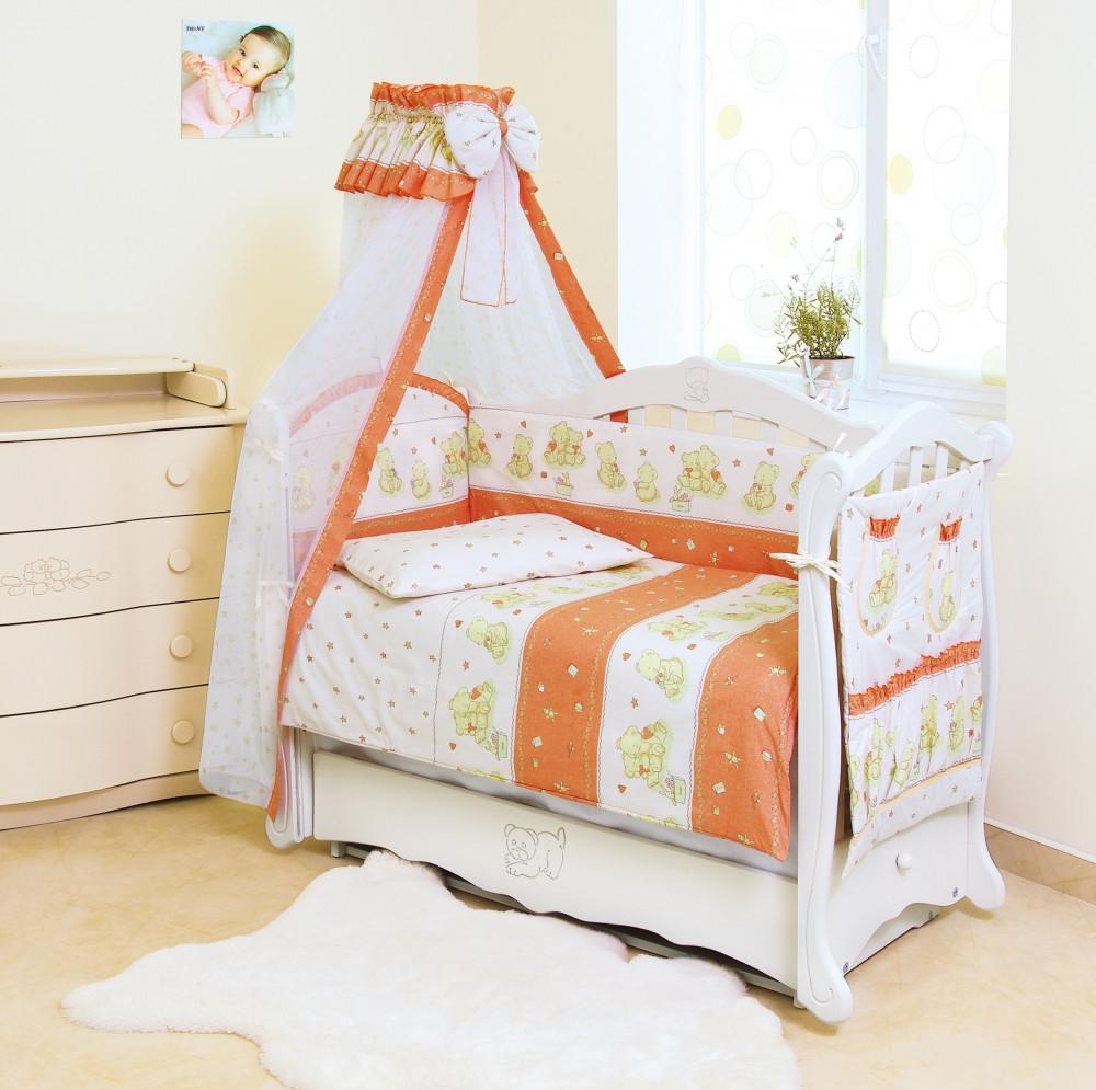 Детское постельное белье Twins Standart Basic C-018 Мишки со звездами 8 эл