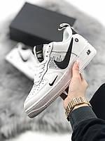Мужские/женские спортивные кроссовки, кеды, чоловічі кросівки Nike Air Force 1 Low TM White, найк, Реплика