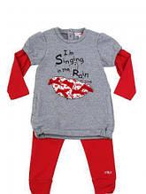 Дитячий комплект для дівчинки Одяг для дівчаток 0-2 Artigli Італія А03669 Сірий