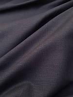 Льняная черная ткань средней плотности (с хлопком), фото 1