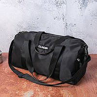 Мужская вместительная спортивная сумка  черного цвета, фото 1