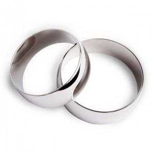 Обручальное кольцо из белого золота Истинные ценности 11891