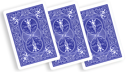 Three Way Forcing Deck Bicycle (Blue), фото 2