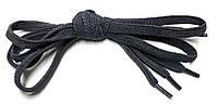 Шнурки плоские Темно серые резиновые 80см, фото 1
