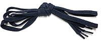 Шнурки плоские Темно синие резиновые 70см, фото 1