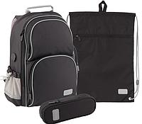 Комплект школьный Kite K19-702M-4 Smart черный + пенал+ сумка
