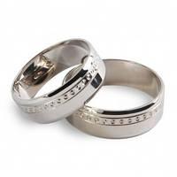 Обручальное кольцо из белого золота Настоящая любовь 10941