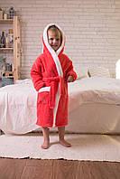 """Детские махровые халаты с ушками на запах """"Зайчик"""""""