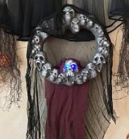 Венок с черепами (декор для Хэллоуина)