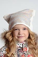 Дитяча шапка для дівчинки TRESTELLE Італія T17 972E Бежевий весняна осіння демісезонна