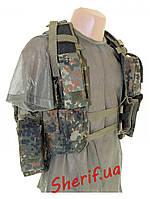 Разгрузочный жилет тактический 12 карманов MIL-TEC Flecktarn, 10711021
