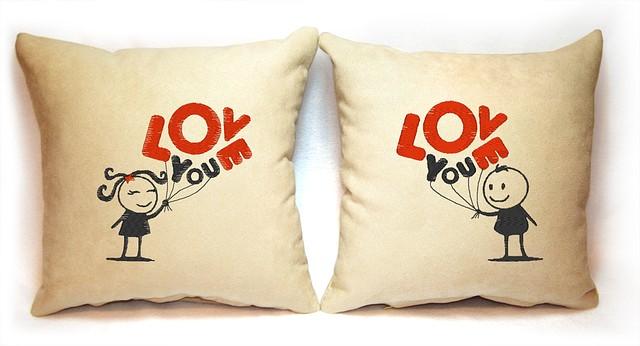 """Набор из двух подушек """"Love you"""""""
