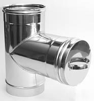 Ревизия ф160 из нержавеющей стали для одностенного дымохода