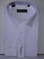 Рубашка мужская с длинным рукавом Ferrero Gizzi vd-0034 белая однотонная классическая