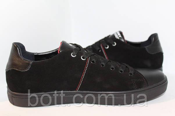 Кеды черные замшевые, фото 3