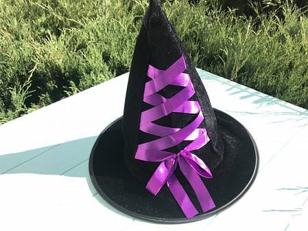 Шляпа Ведьмочки детская с фиолетовой лентой, фото 2