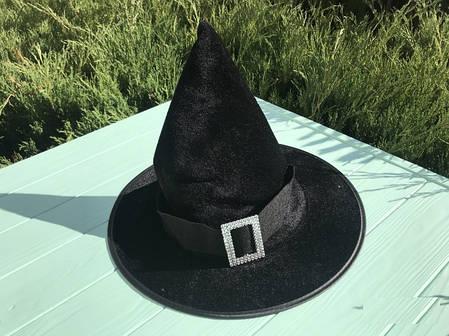 Колпак Ведьмы с серебряной пряжкой детский черный, фото 2