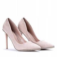 Женские туфли пудра на шпильке