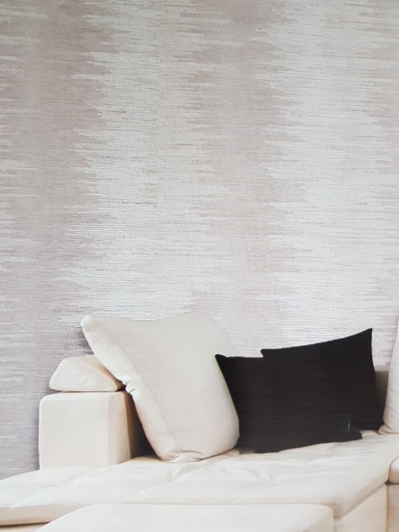 Виниловые обои  GranDeco FUSION A21801 полосы широкие размытые бежевые молочные