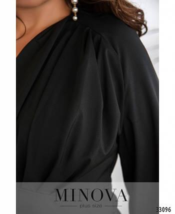 Стильная женская блуза с V-образным вырезом  с 50 по 56 размер, фото 2