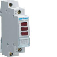 Индикатор тройной LED красный Hager SVN127, 230В